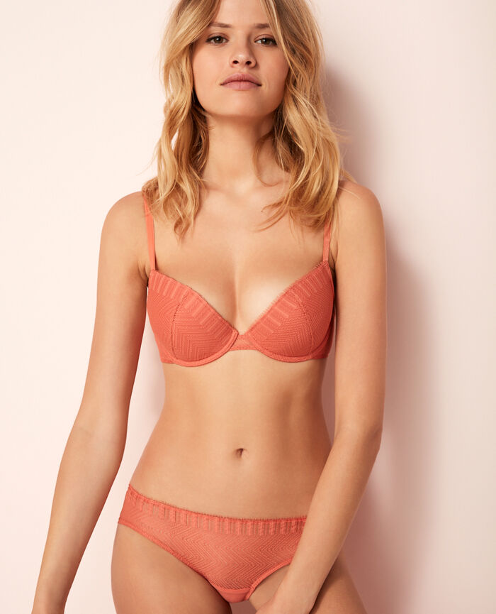 Padded push-up bra Terracota Serenade