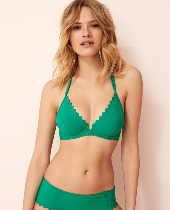 Underwired triangle bikini top Casa green Andrea