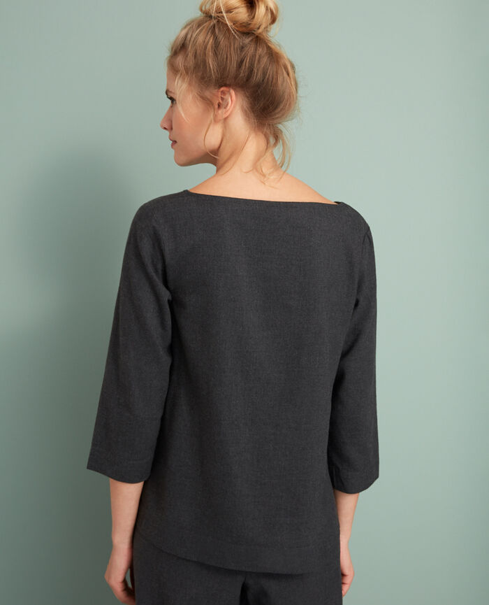Top Gris anthracite Abysse