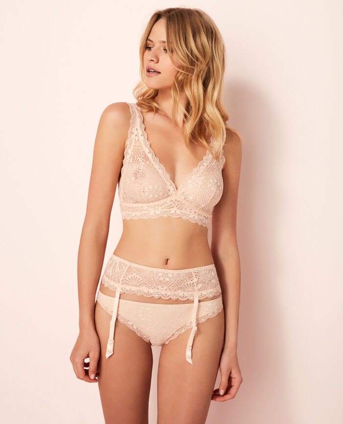Suspender belt Rose gold Love