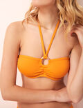Concealed underwired strapless bikini top Orange maya Isaia