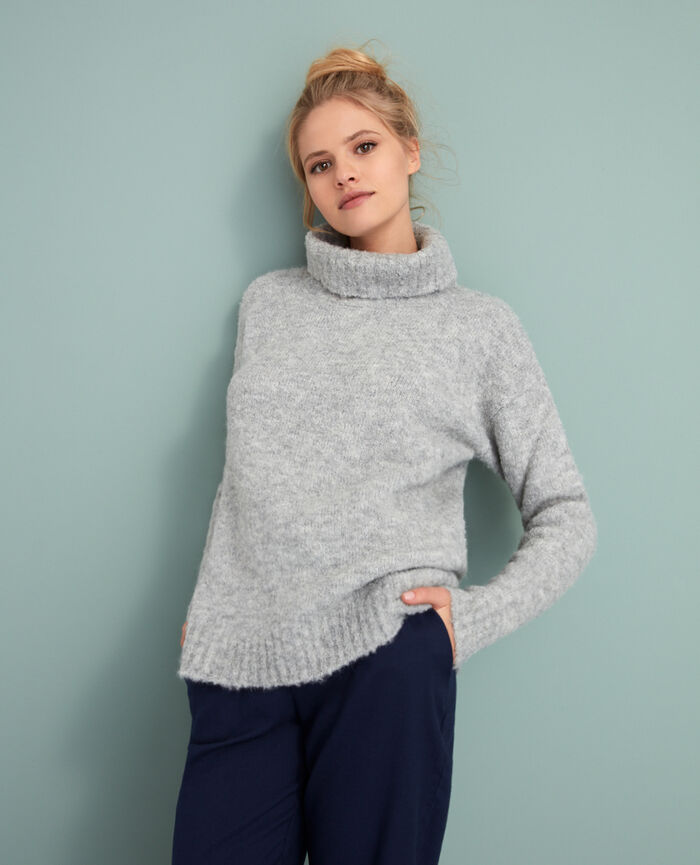 Turtle-neck jumper Grey Loop