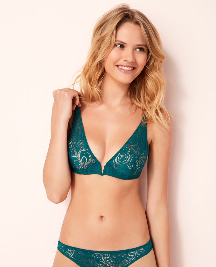Underwired triangle bra Mezcal green Evasion