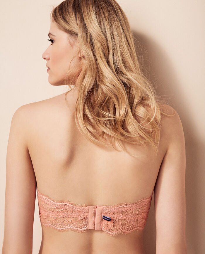 Strapless bra Toucan pink Taylor