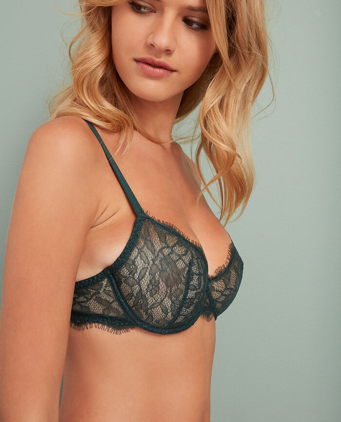 Half-cup bra Story green Taylor