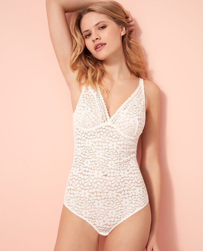 Body avec armatures Blanc rosé Monica
