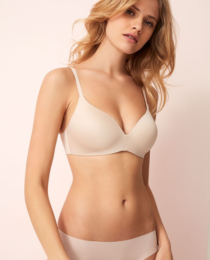 Soft moulded triangle bra Powder Fantomette
