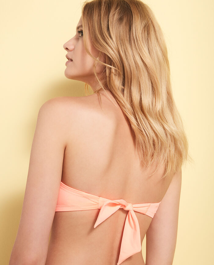 Soutien-gorge de bain bandeau mousse sans armatures Orange caprice Mix & match