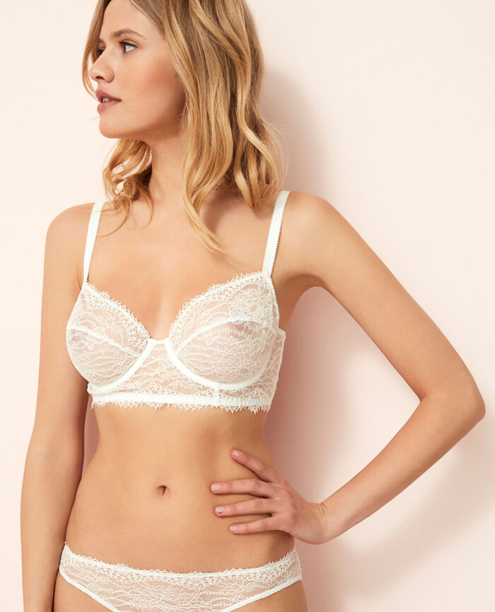 Bustier bra Ivory Chantilly