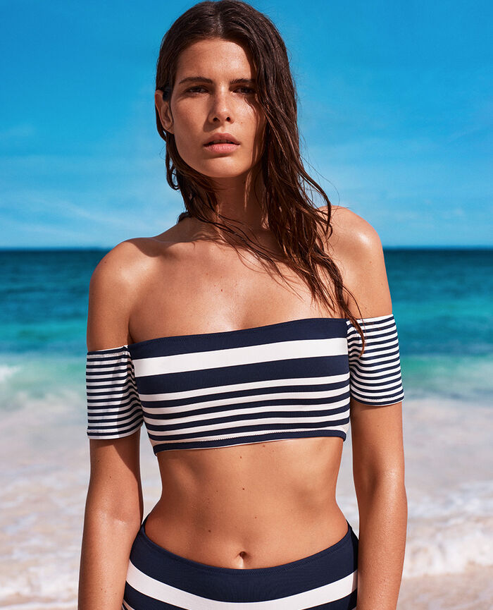 Beach top Bleu rayures Lisa