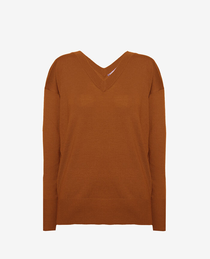 V-neck jumper Bronze Henri
