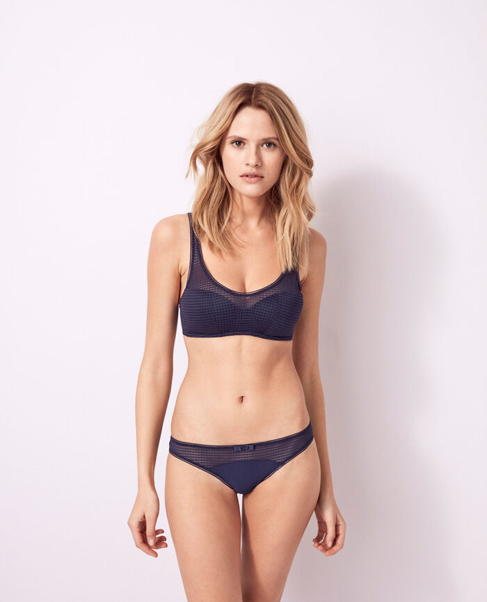 Soft push-up bra Denim blue Fetiche