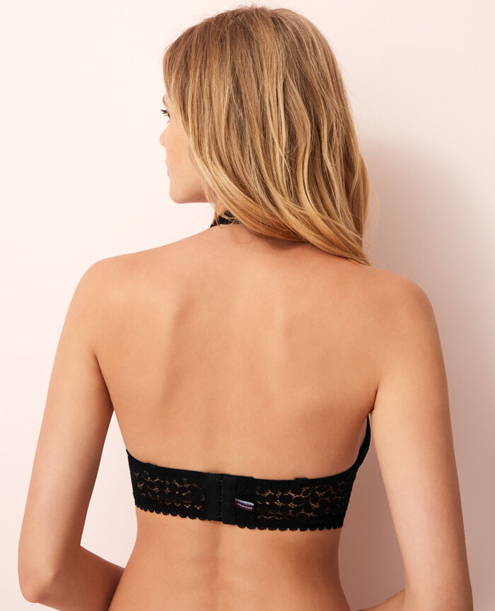 Backless triangle bra multi-position Black Monica
