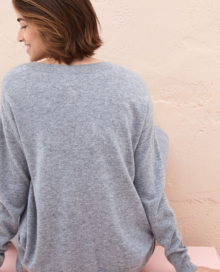 V-neck jumper Grey Icone