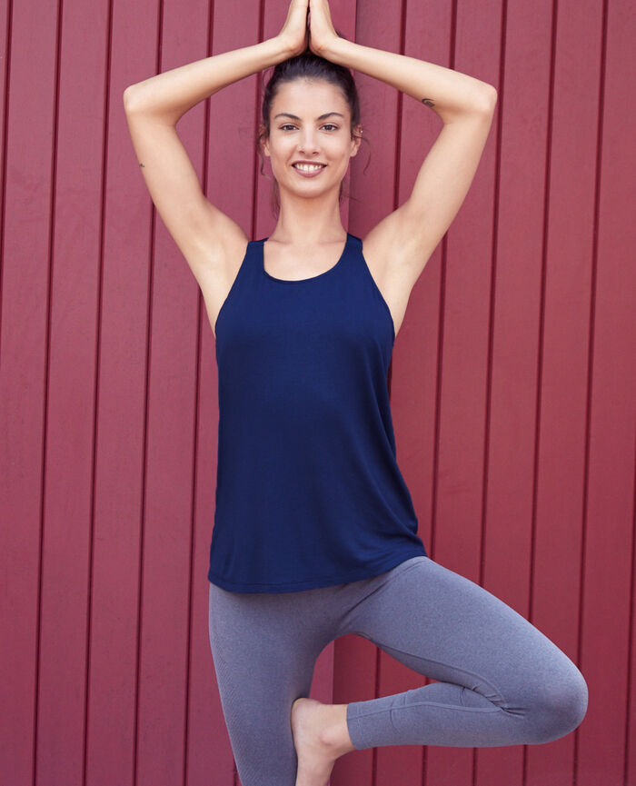 Sport tank top Navy Yoga