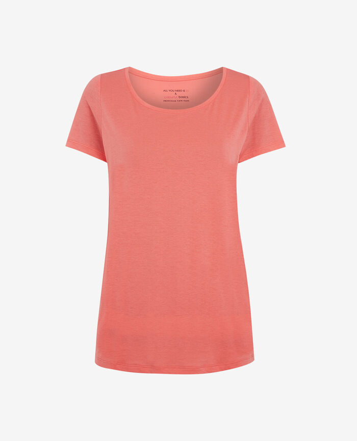 T-shirt manches courtes Rose funky Latte