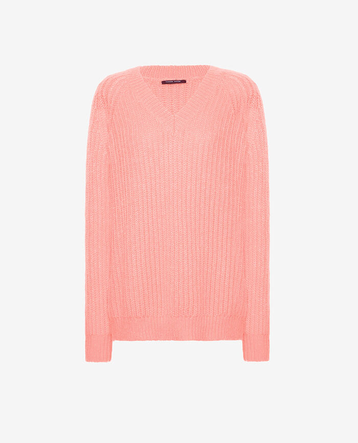Pull col v Rose fard Sensation