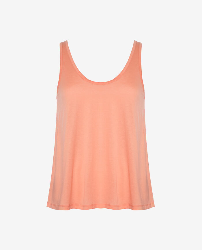T-shirt sans manches Pamplemousse rose Latte