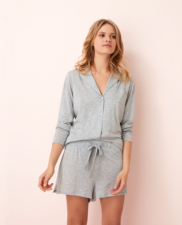 Short de pyjama Gris chiné Latte