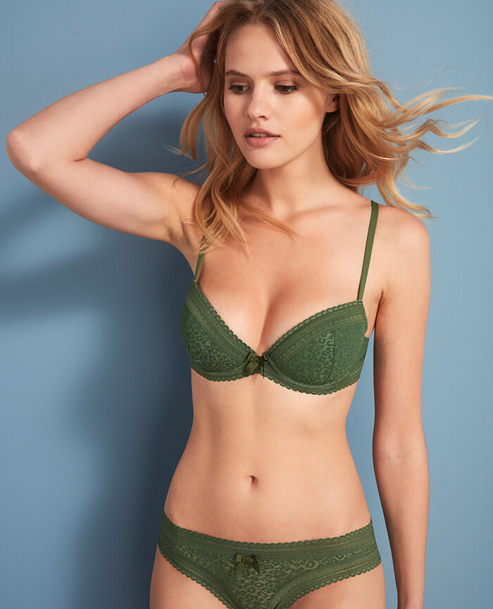Padded push-up bra Agency green Belle