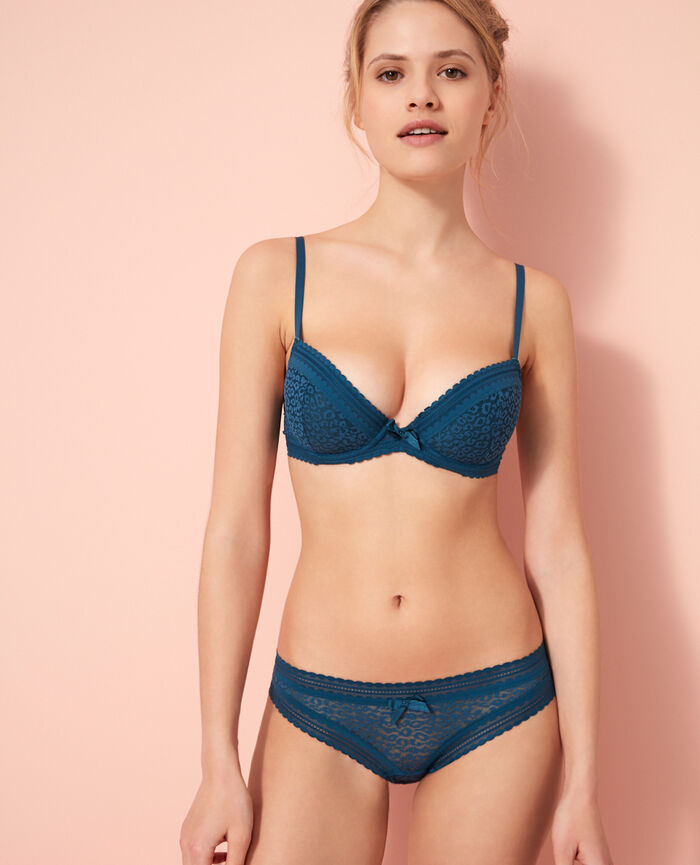 Padded push-up bra Sombrero blue Belle