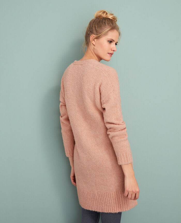 Long bathrobe Jazz rose Loop