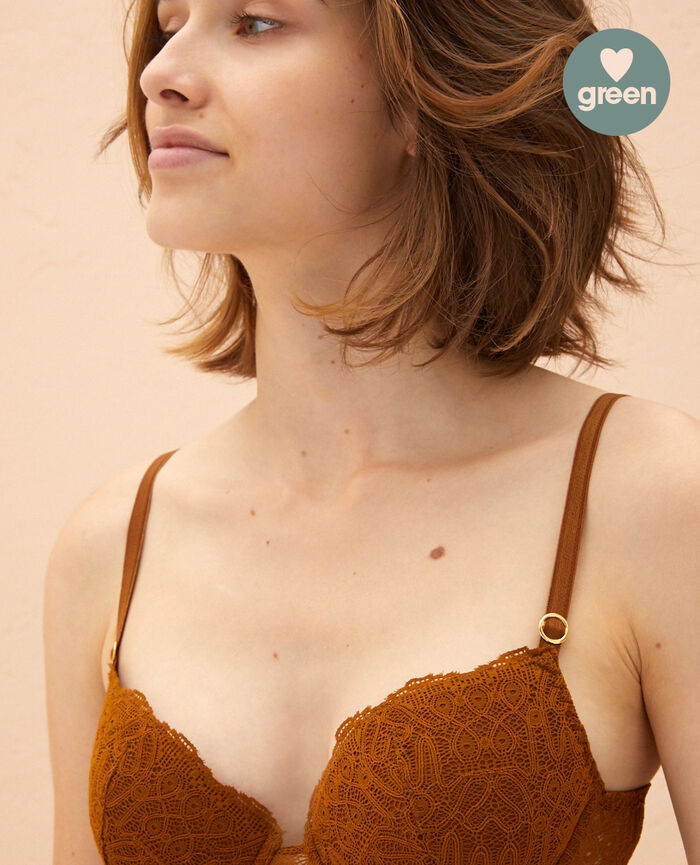 Padded push-up bra Bronze Muse