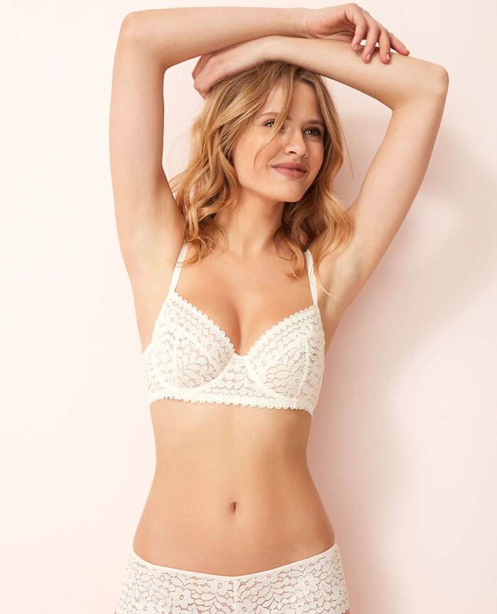Underwired bra Blanc rosé Monica