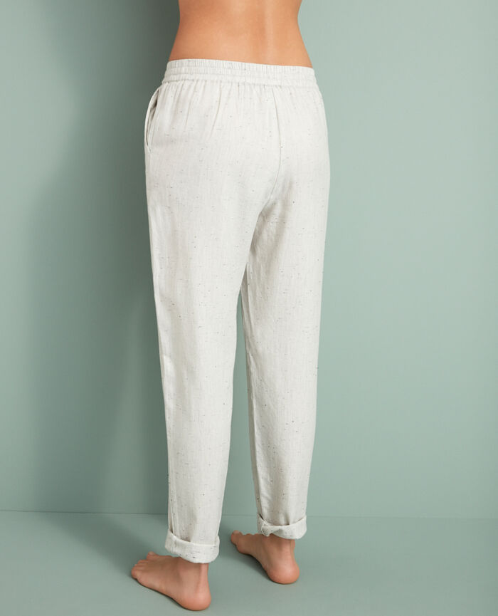 Carrot pants China beige Abysse