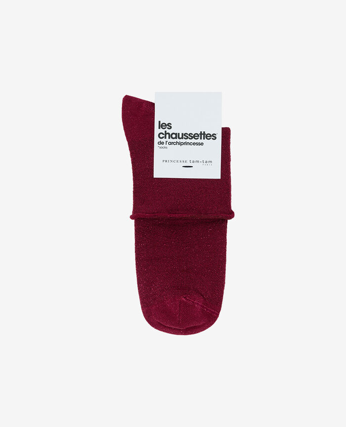 Chaussettes Rouge sangria Pearl