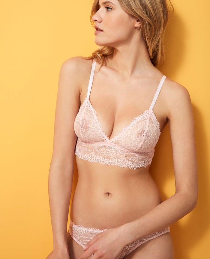 Soft cup bra Pink Chantilly