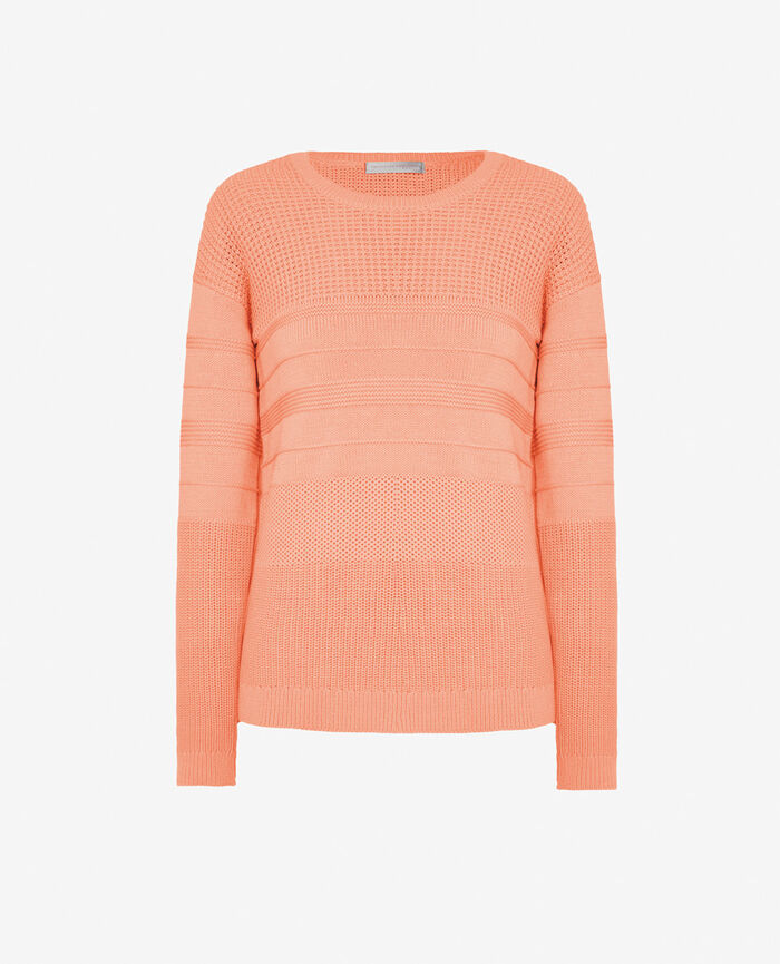 Pull Pamplemousse rose Cachou