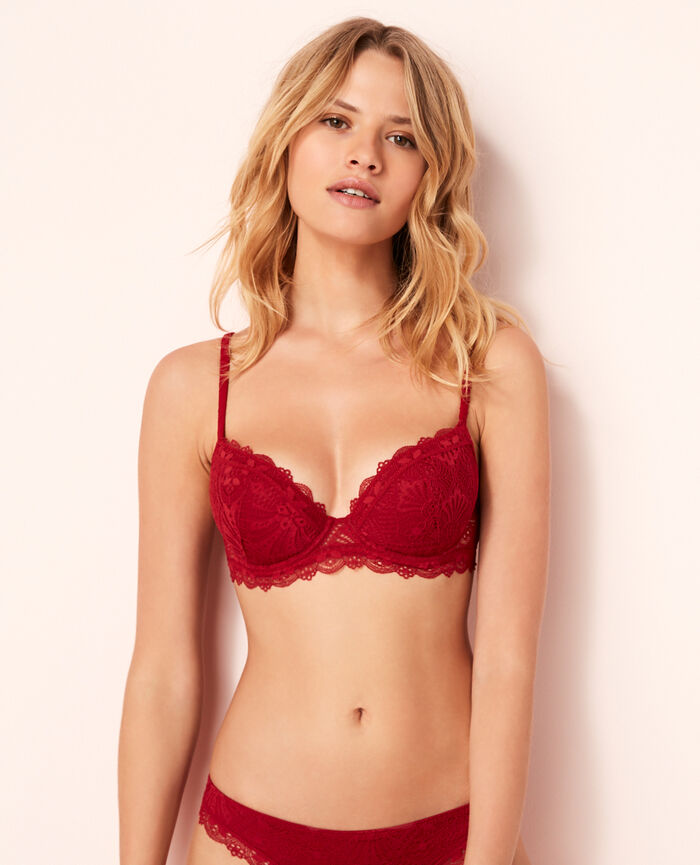 Padded push-up bra Goji red Love