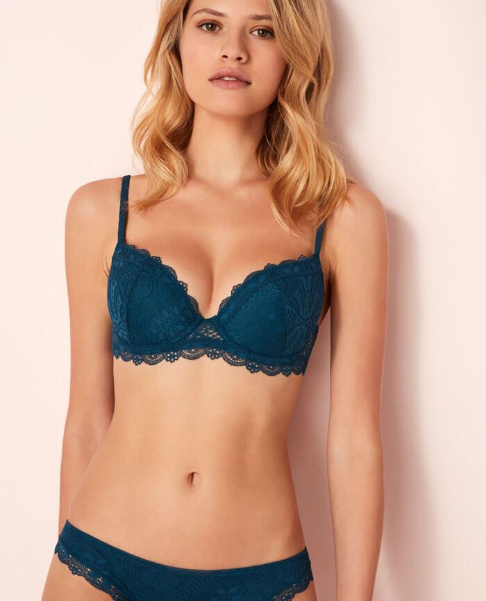 Padded push-up bra Sombrero blue Love