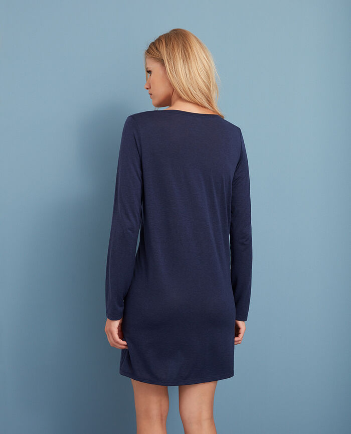 Long-sleeved tunic Navy Latte