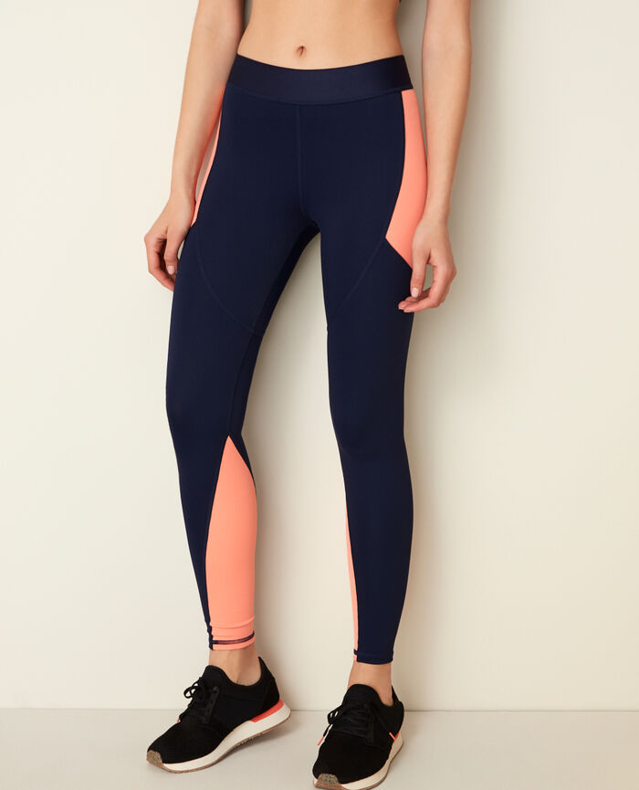 Sporty long running legging Bleu marine Run