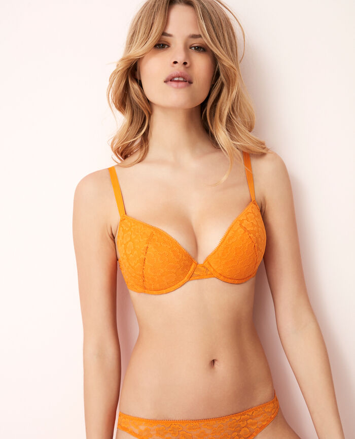 Soutien-gorge push-up mousses Orange maya Azteque