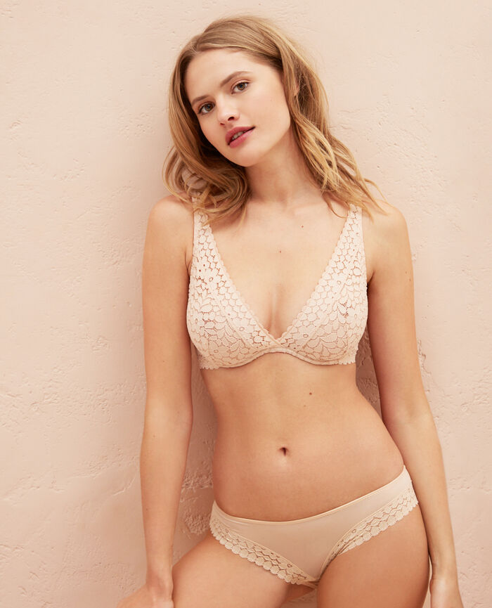 Underwired triangle bra Poudre Monica