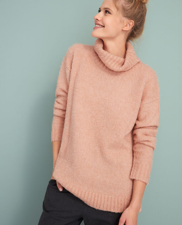 Pull col roulé Rose jazz Loop