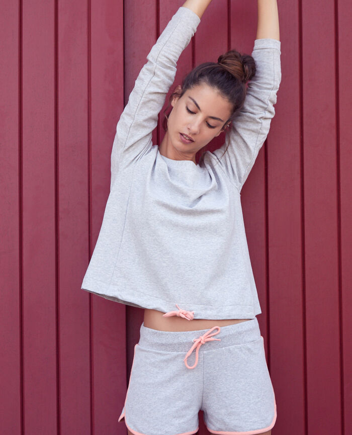 Sweat de sport Gris chiné Yoga