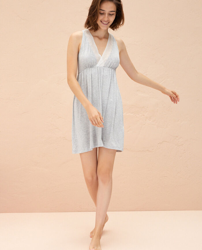 Short nightie Flecked grey Douceur