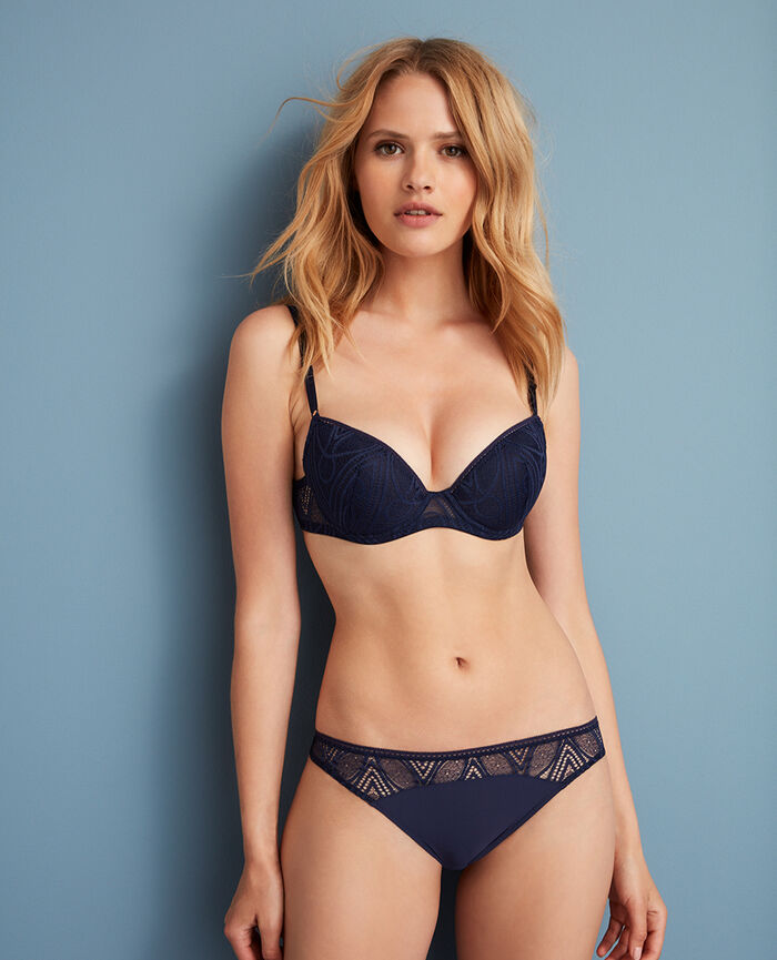 Padded push-up bra Manhattan blue Boheme