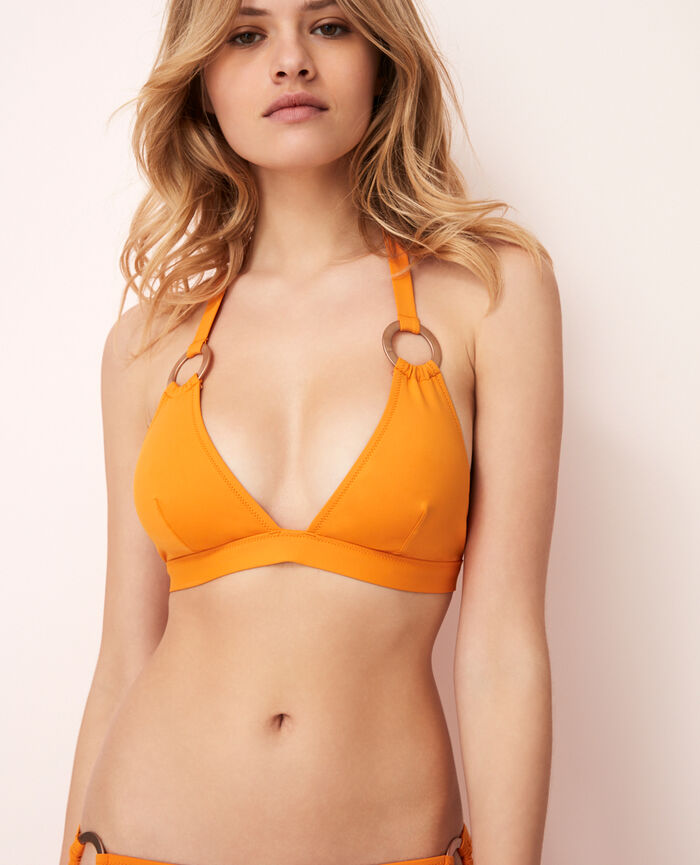 Soutien-gorge de bain triangle Orange maya Isaia
