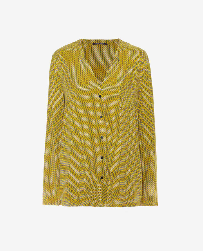 Pyjama jacket Yellow tie Pictural
