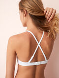 Concealed underwired triangle bikini top Blanc Soko