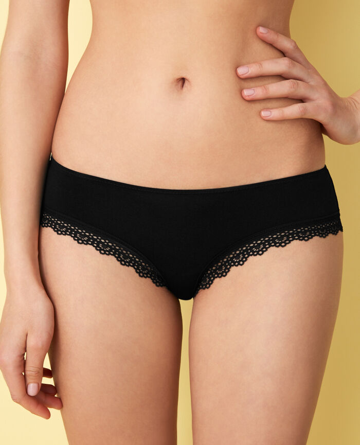 Shorty brésilien Noir Air lingerie