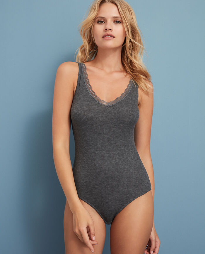 Body sans manches Gris anthracite Lovely