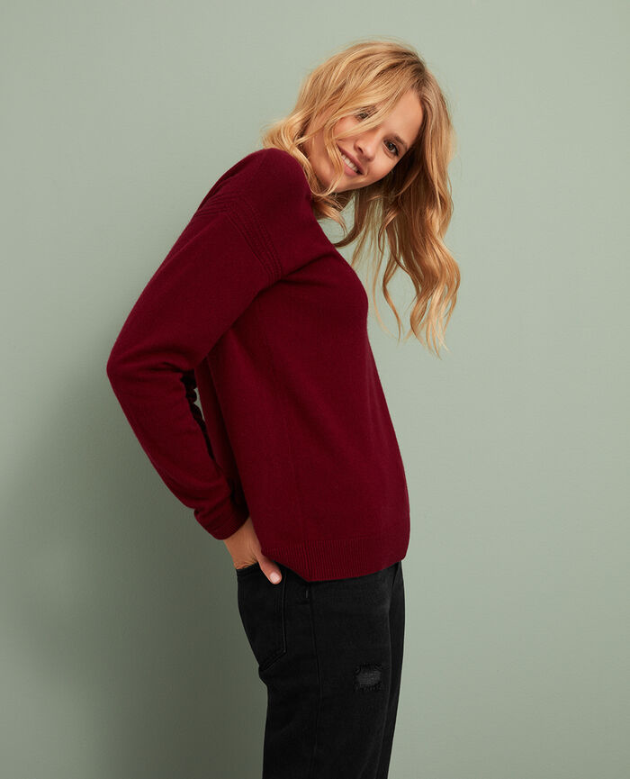 Pull Rouge cuir Cozy