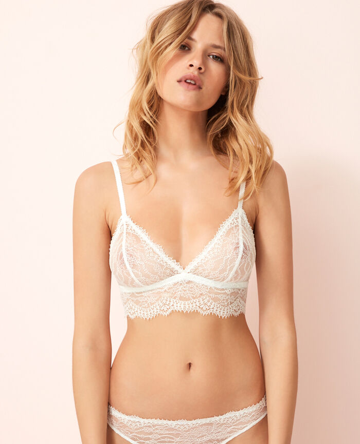Soft cup bra Ivory Chantilly