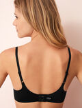 Soft moulded triangle bra Black Fantomette
